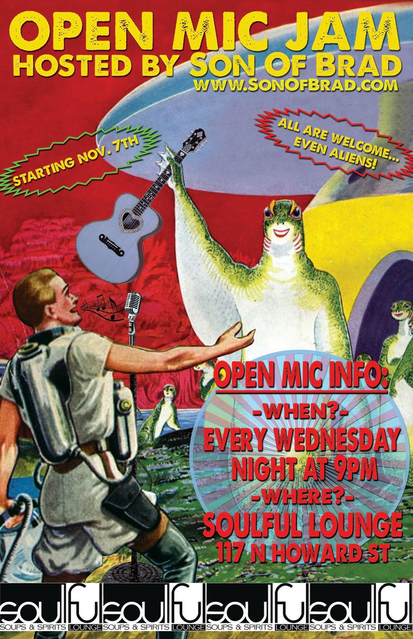 Wednesday- Open Mic Night @ Soulful Soups & Spirits | Spokane | Washington | United States