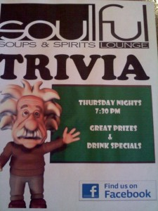 Thursday- Trivia Night!